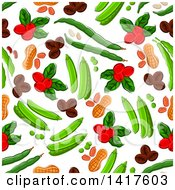 Clipart Of A Seamless Background Pattern Of Food Royalty Free Vector Illustration