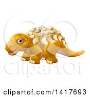 Clipart Of A Cute Edmontonia Dinosaur Royalty Free Vector Illustration by AtStockIllustration