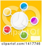 Clipart Of A Design Of Colorful Blank Circles On Yellow Royalty Free Vector Illustration by elaineitalia