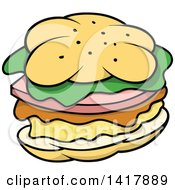 Cartoon Sandwich Or Hamburger