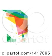 Clipart Of A Colorful Business Card Or Website Background Design Royalty Free Vector Illustration