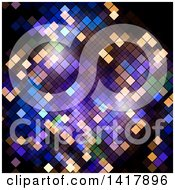 Clipart Of A Colorful Pixel Or Mosaic Background Royalty Free Vector Illustration