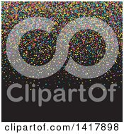 Background Of Colorful Party Confetti On Black