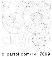 Clipart Of A Background Of Gray Connections And Lines On White Royalty Free Vector Illustration