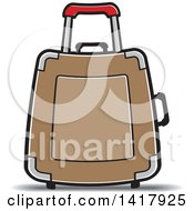 Clipart Of A Brown Suitcase Royalty Free Vector Illustration