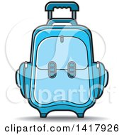 Clipart Of A Blue Suitcase Royalty Free Vector Illustration