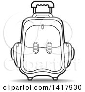 Clipart Of A Lineart Suitcase Royalty Free Vector Illustration by Lal Perera