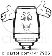 Clipart Of A Marker Character Royalty Free Vector Illustration by Lal Perera