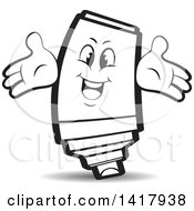 Clipart Of A Happy Marker Character Royalty Free Vector Illustration by Lal Perera