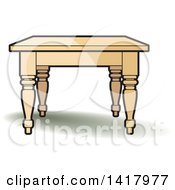 Clipart Of A Table Royalty Free Vector Illustration by Lal Perera