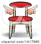 Clipart Of A Chair With Hands Royalty Free Vector Illustration by Lal Perera
