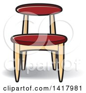 Clipart Of A Chair Royalty Free Vector Illustration by Lal Perera