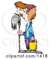 Spring Cleaning Clipart by toonaday #COLLC1418-0008