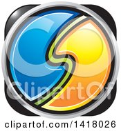 Clipart Of A Blue Yellow Gray Black And Green Abstract Letter S Icon Royalty Free Vector Illustration by Lal Perera