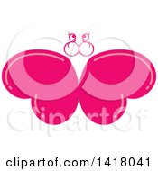 Pink Heart Butterfly