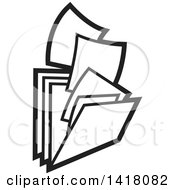 Clipart Of Paperwork And Filing Folders Royalty Free Vector Illustration by Lal Perera