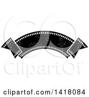 Clipart Of A Distressed Film Strip Banner Royalty Free Vector Illustration