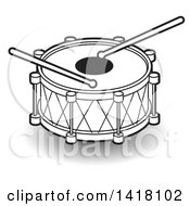 Clipart Of A Lineart Drum Royalty Free Vector Illustration by Lal Perera