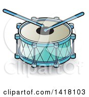 Clipart Of A Drum Royalty Free Vector Illustration