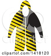 Clipart Of A Raincoat Royalty Free Vector Illustration