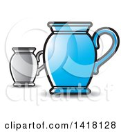 Clipart Of Jugs Royalty Free Vector Illustration