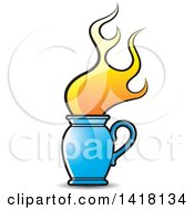 Clipart Of A Flaming Jug Royalty Free Vector Illustration by Lal Perera