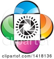 Clipart Of A Colorful Shutter Icon Royalty Free Vector Illustration by Lal Perera