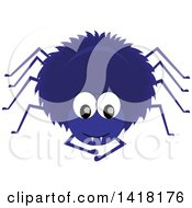 Blue Hairy Spider