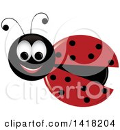 Clipart of a Happy Ladybug - Royalty Free Vector Illustration by Pams Clipart #COLLC1418204-0007