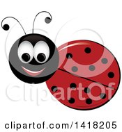 Clipart Of A Happy Ladybug Royalty Free Vector Illustration by Pams Clipart