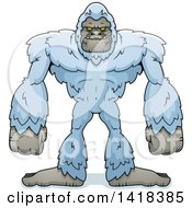 Cartoon Clipart Of A Yeti Abominable Snowman Royalty Free Vector Illustration by Cory Thoman