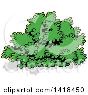 Cartoon Green Shrub