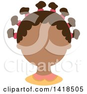 Clipart Of A Faceless Black Girl With Hair Up In Bantu Knots Royalty Free Vector Illustration
