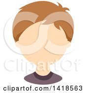 Clipart Of A Faceless White Boy With Light Brown Hair Royalty Free Vector Illustration