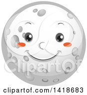 Clipart Of A Moon Smiling Royalty Free Vector Illustration