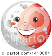 Clipart Of A Moon Shown During A Lunar Eclipse Royalty Free Vector Illustration