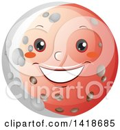 Clipart Of A Moon Shown During A Lunar Eclipse Royalty Free Vector Illustration by BNP Design Studio