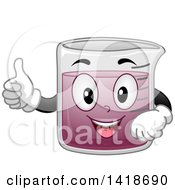 Happy Science Beaker Mascot Holding A Thumb Up