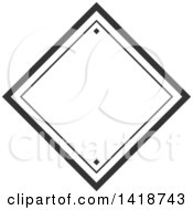 Dark Gray Label Frame Design