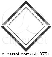 Clipart Of A Dark Gray Label Frame Design Royalty Free Vector Illustration