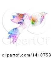 Clipart Of A Dove Made Of Colorful Hands Royalty Free Vector Illustration