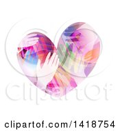 Clipart Of A Heart Made Of Colorful Hands Royalty Free Vector Illustration by BNP Design Studio