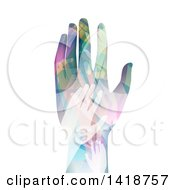 Clipart Of A Hand Made Of Colorful Hands Royalty Free Vector Illustration