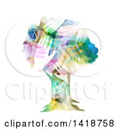 Clipart Of A Tree Made Of Colorful Hands Royalty Free Vector Illustration