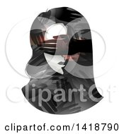 Clipart Of A Womans Face With Hands Covering Her Eyes Royalty Free Vector Illustration