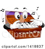 Clipart Of A Harmonium Mascot Royalty Free Vector Illustration