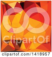 Clipart Of A Low Poly Abstract Geometric Background In Cadmium Yellow Royalty Free Vector Illustration