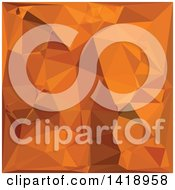 Clipart Of A Low Poly Abstract Geometric Background In Dark Orange Carrot Royalty Free Vector Illustration