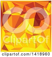 Clipart Of A Low Poly Abstract Geometric Background In Gold Yellow Banana Royalty Free Vector Illustration