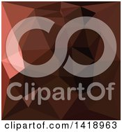 Clipart Of A Low Poly Abstract Geometric Background In Saddle Brown Royalty Free Vector Illustration